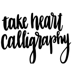 Take Heart Calligraphy Stickers