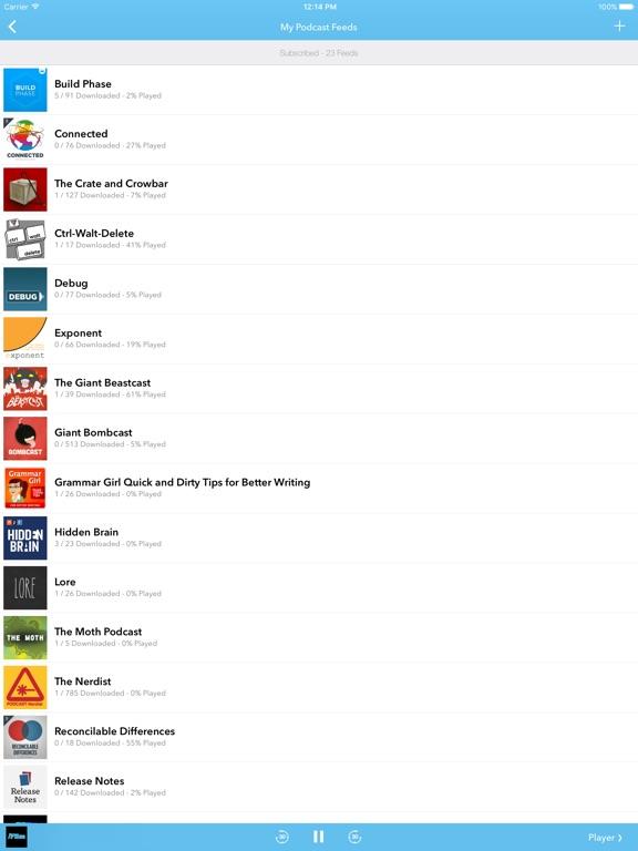 SkipCast: Podcast Player Screenshots