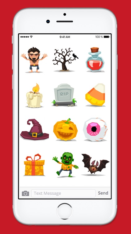 Cute and Scary Halloween Sticker Pack screenshot-3