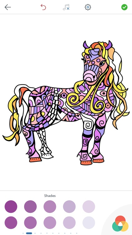 Horse Coloring Book for Adults screenshot-3