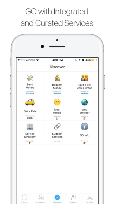 GO Services - Service Catalog, Chat for Uber Venmo