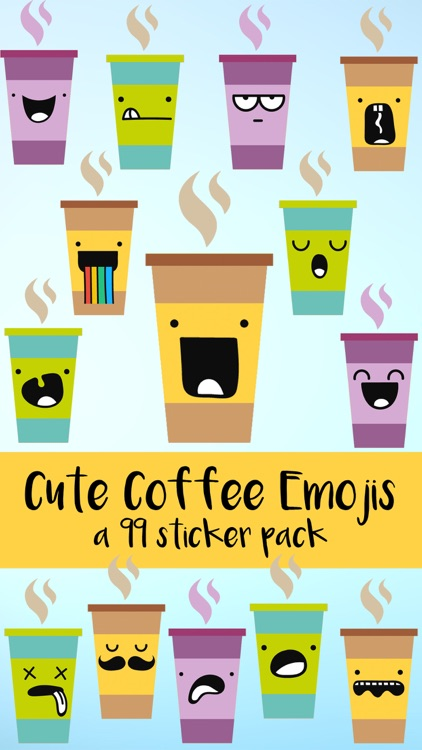 Cute Coffee Emojis Sticker Pack