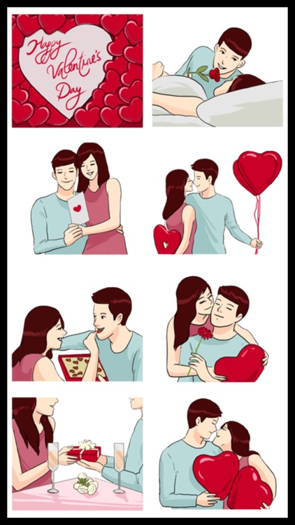 Lovers Couple 3 Stickers