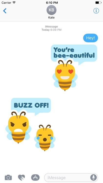 Bee-moji   Cute & Funny Bee Emoji Stickers