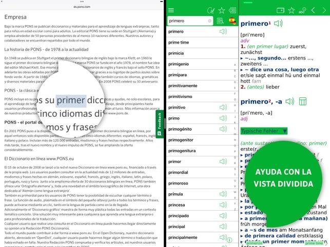 Diccionario Alemán Español Avanzado De Pons