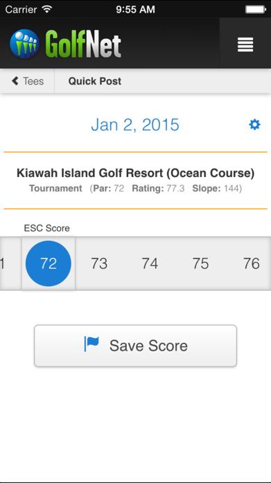 GolfNet - Golf Handicap Tracker Screenshot