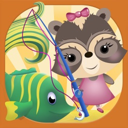 Candy Raccoon: Fishing for Kids
