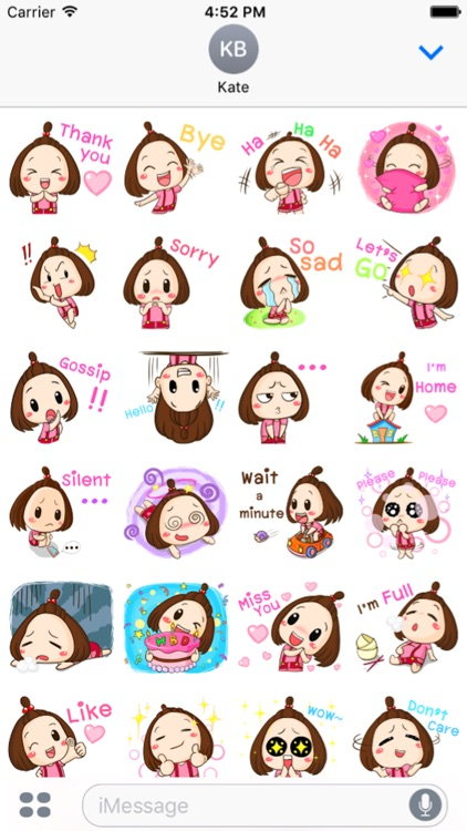 Cute Little Girl Sticker screenshot-2