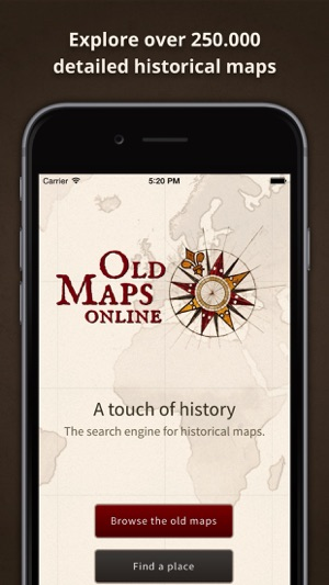 Old Maps line on the App Store