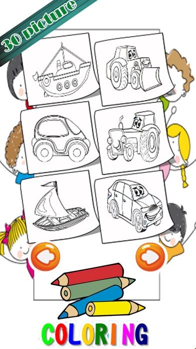Learning Vehicles Coloring Markers Easy For Kids screenshot four