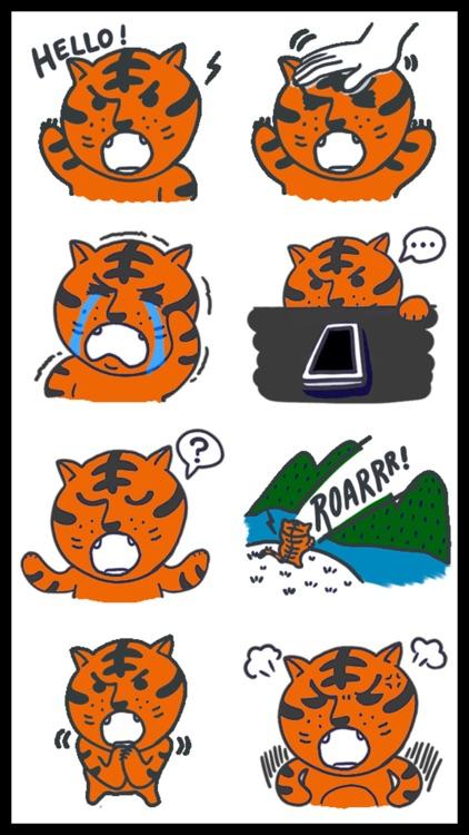 Courageous Tiger Stickers screenshot-3