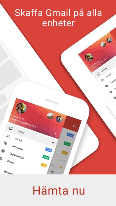 Screenshot for Gmail - e-post från Google in Sweden App Store