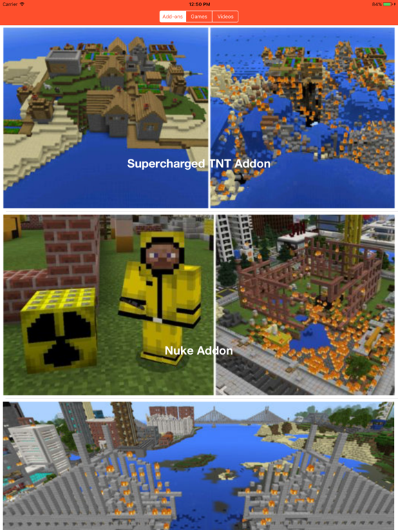 Screenshots of TNT Add Ons Mini Games For Minecraft PE for iPad