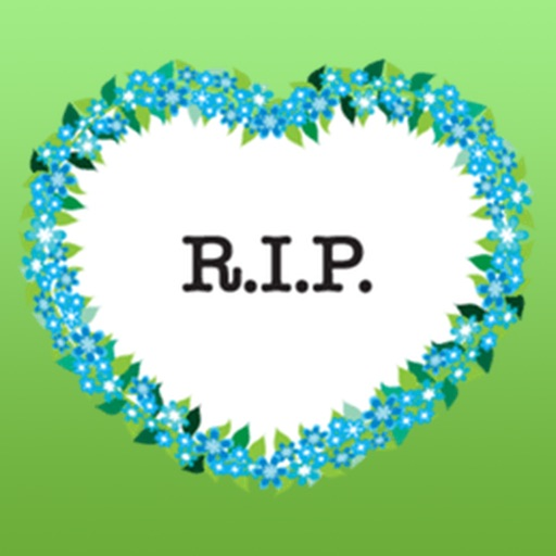 Wreath Rip - Rest in Peace Stickers iOS App