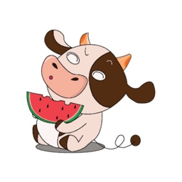 Dairy Cows Animated Stickers
