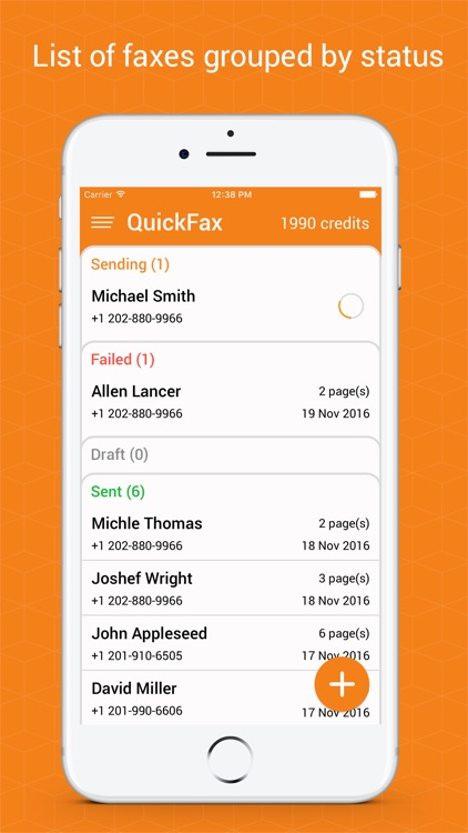 Quick Fax - send fax from iPhone