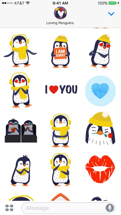 Love Penguins - Animated Pack for Valentines Day screenshot-3