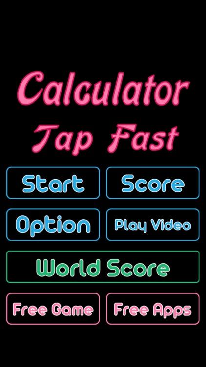Calculator Tap Fast Game