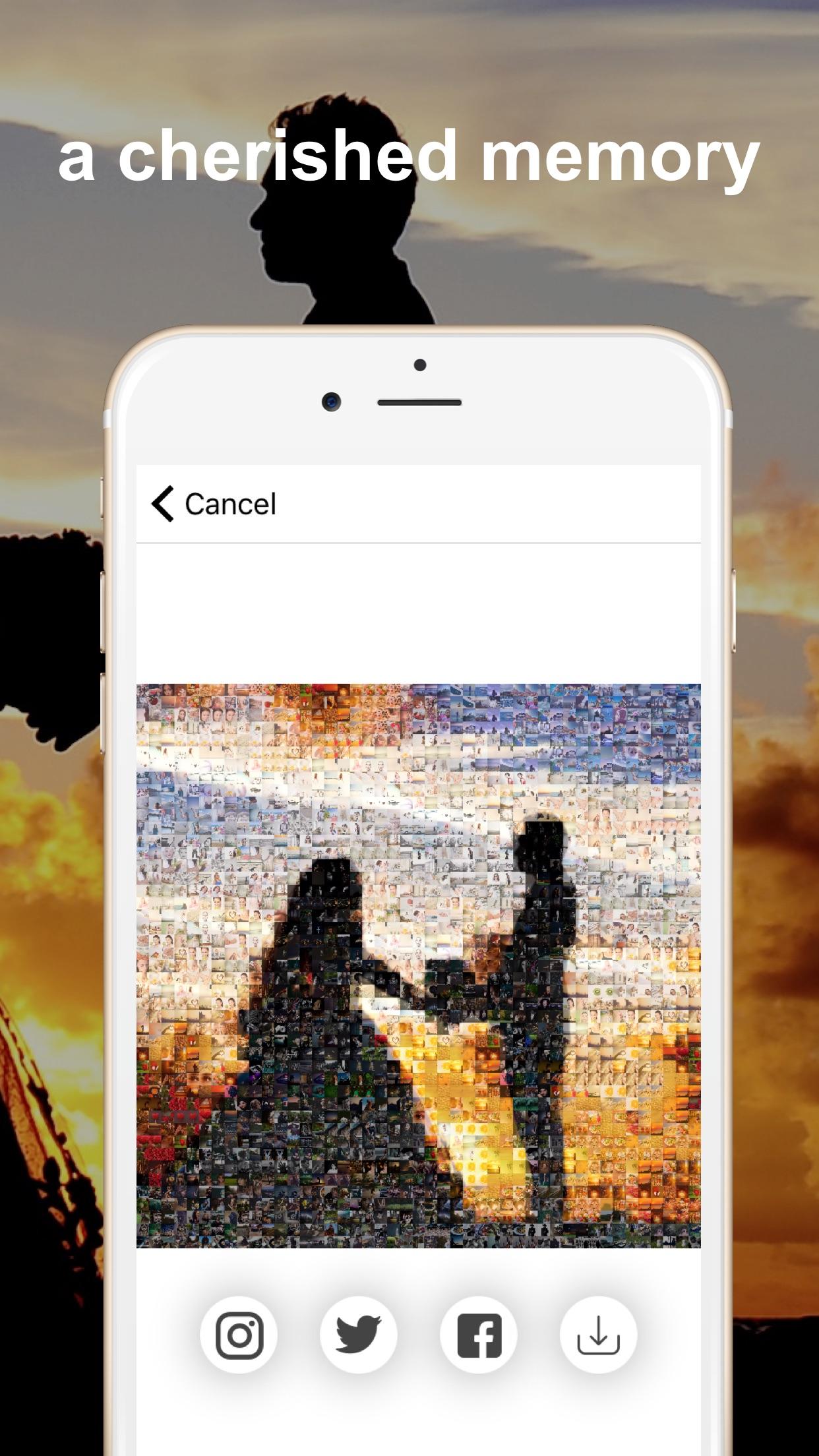Screenshot do app PXL - mosaic art
