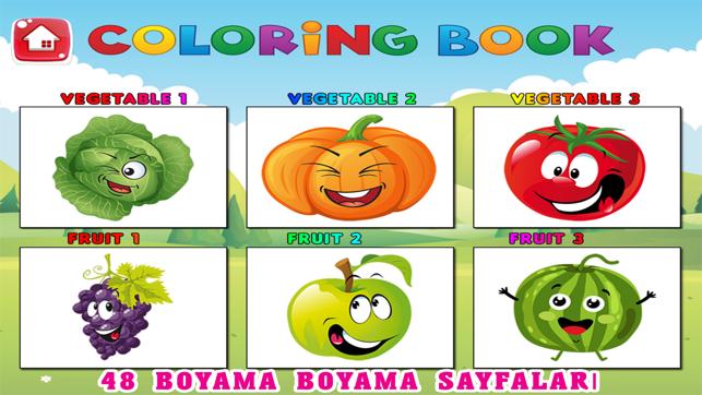 Cocuk Boyama Sayfalari Takip Meyve Sebze Oyunu App Store Da