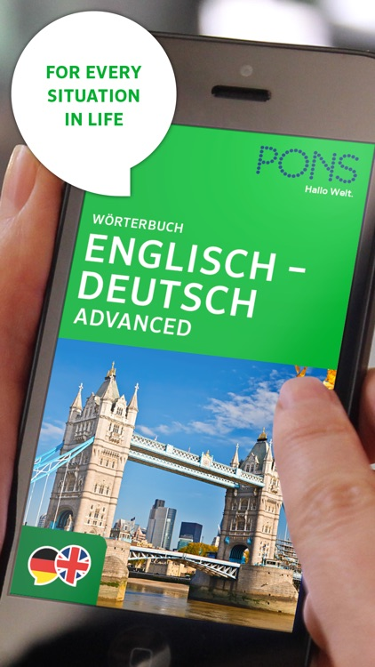 Dictionary German - English ADVANCED by PONS screenshot-0