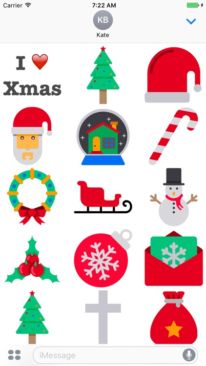 I Love Xmas Stickers Pack