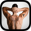 Tattoo photo editor with stickers and piercings