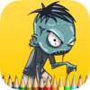 殭屍 鬼 填色本 - 畫畫 對於 孩子們