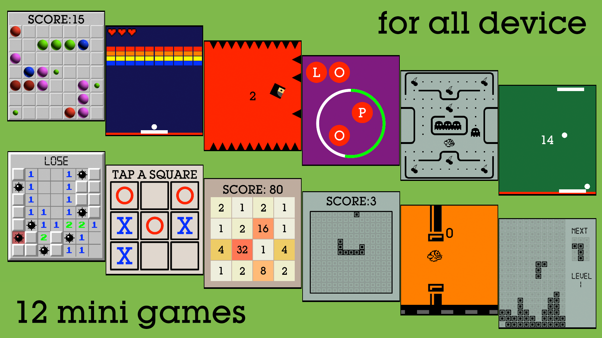 17 Mini Games For Watch & Phone screenshot 12