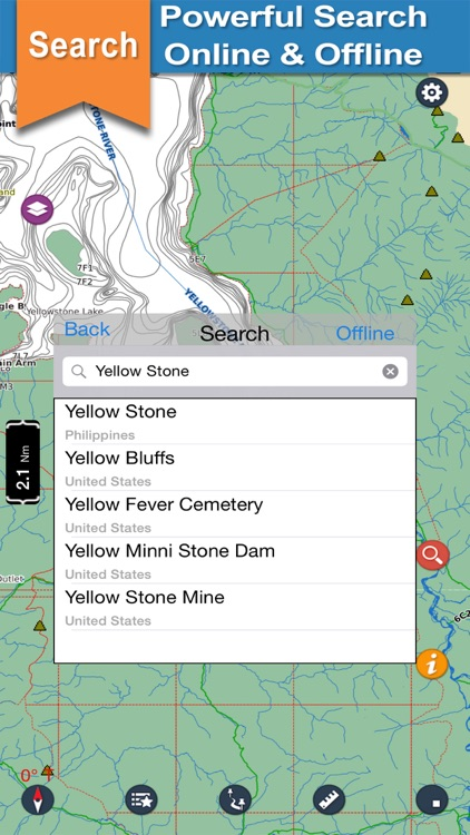 YellowStone offline chart for lake and park trails screenshot-3