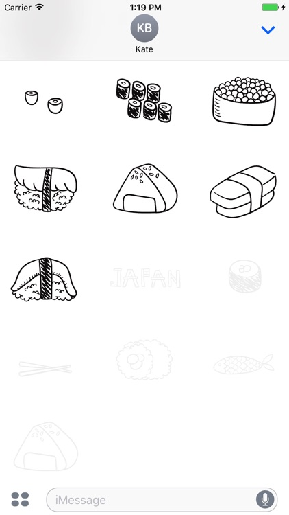 Animated Cute Japan Food Stickers screenshot-3