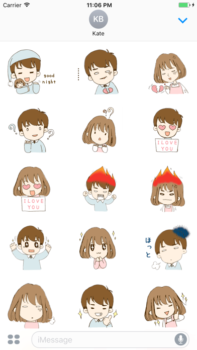 Love Story Of Rose And Jacob English Stickers screenshot two