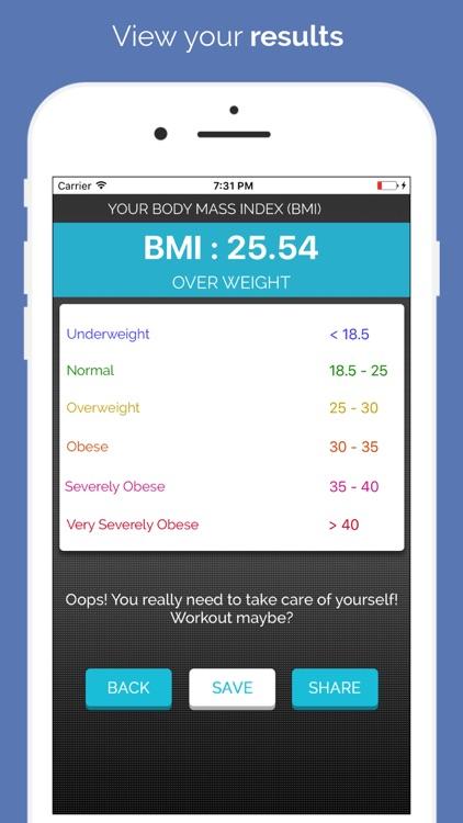 Health Mate - BMI Checker screenshot-3