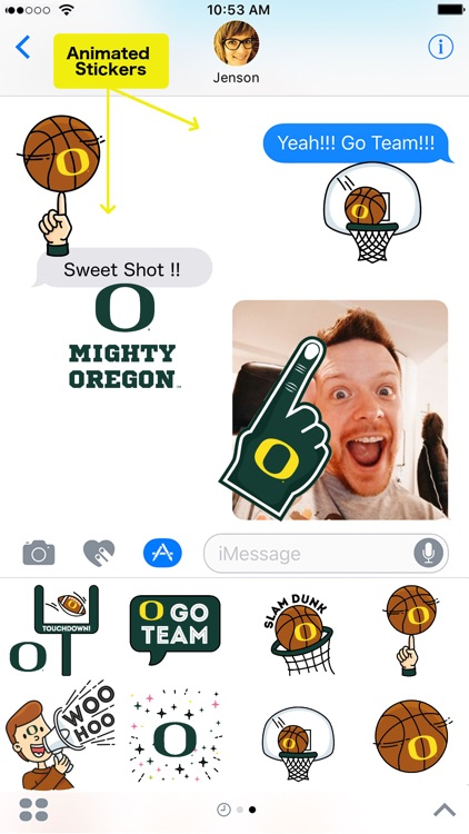 Oregon Ducks Animated Emojis