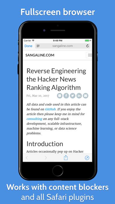 YCReader - hacker news app powered by official API screenshot four