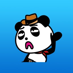 Simba the cowboy panda stickers 3