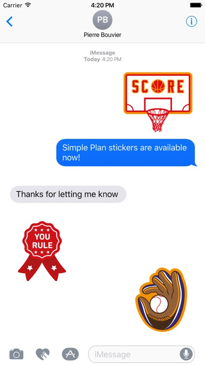 Simple Plan Sticker Pack screenshot-1