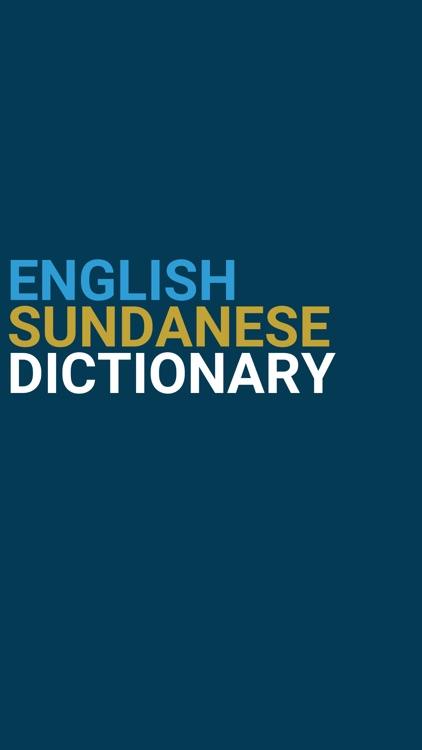 English : Sundanese Dictionary