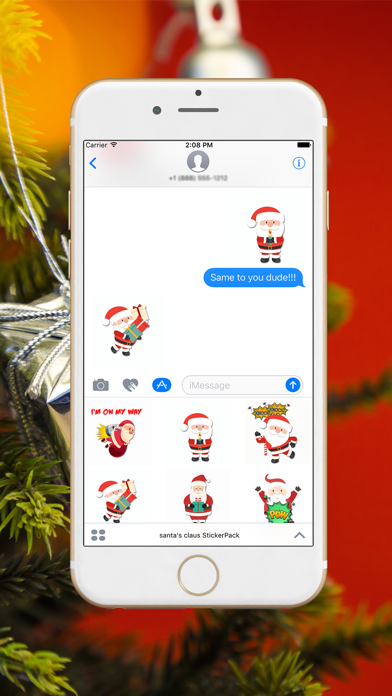 Xmas Santa Stickers screenshot two