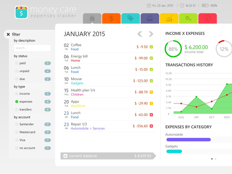 Money Care | Bills monitor screenshot-1