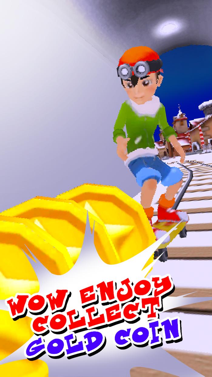 Subway Surf Arcade Endless Run - GO Skaters Rail Screenshot
