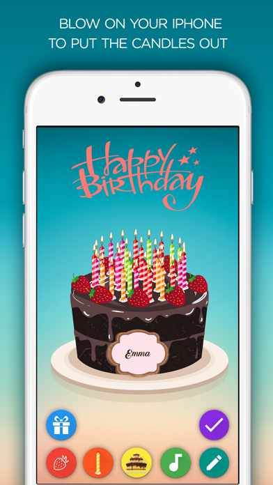 Amazing Birthday Cake Blow Out The Candles By Cemal Onur Tokoglu Ios Funny Birthday Cards Online Unhofree Goldxyz