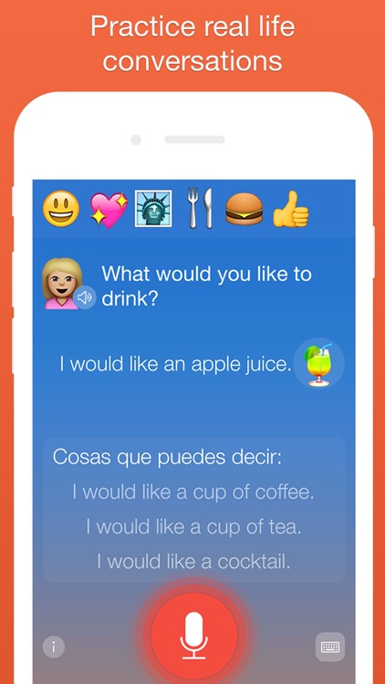 Mondly: Learn 33 Languages: Spanish English French app image