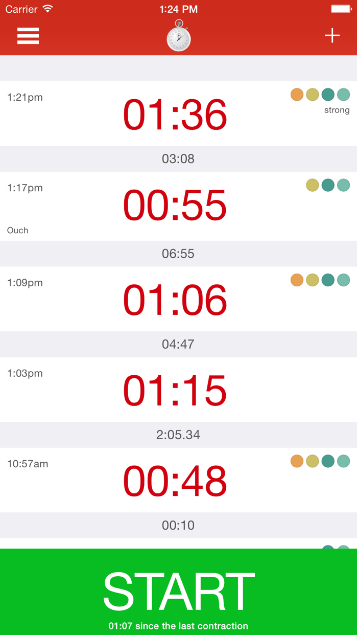 Contraction Timer - Time labor contractions Screenshot