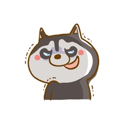 Scary Siberian Dog Stickers for iMessage