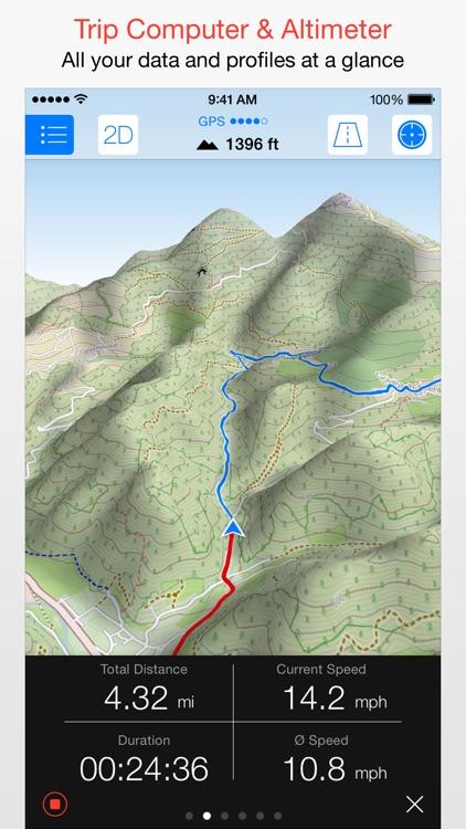 Maps 3D PRO - GPS for Bike, Hike, Ski & Outdoor app image