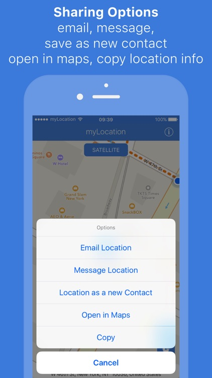 myLocation - Coordinates precise location sharing