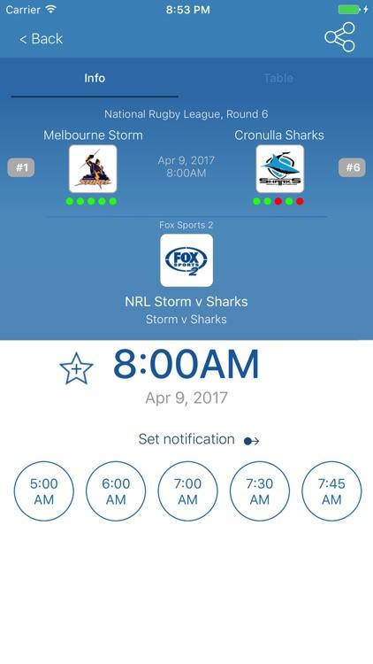 Australian Live Sport TV Guide screenshot-3