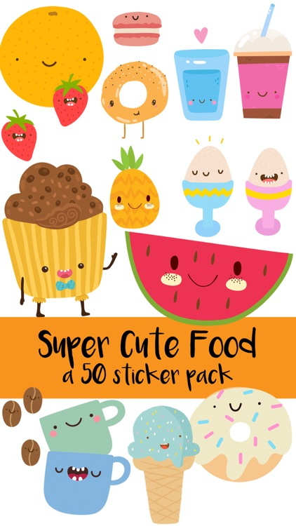 Super Cute Food Sticker Pack