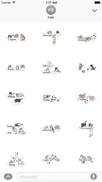Cat Cat Cat English Version Stickers Pack
